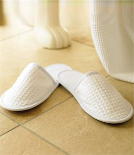 Towel City Waffle Mule Slippers