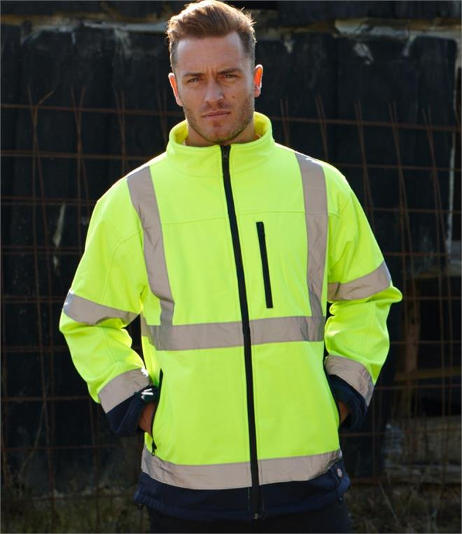 DISCONTINUED - Dickies Hi-Vis Two-Tone Soft Shell Jacket