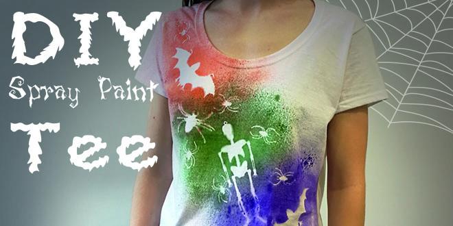 Diy Spray Paint T Shirt